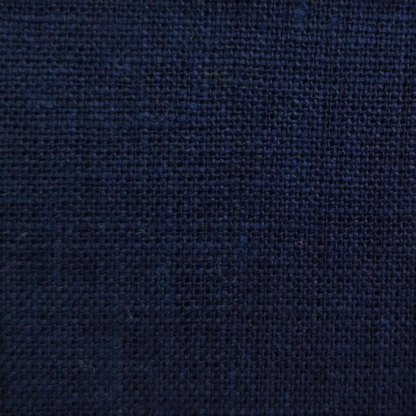 тканина з льону темно синій navy blue