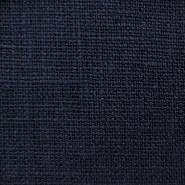 4с33 темно синій тканина льон лен
