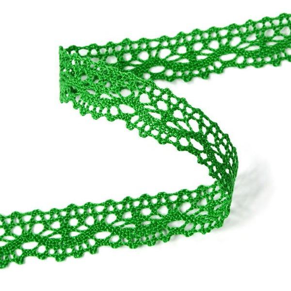 Мереживо 75395 183, зелений, трав'яний, 16 мм