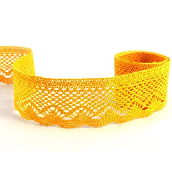 Мереживо 75414 071, темно-жовтий, 55 мм