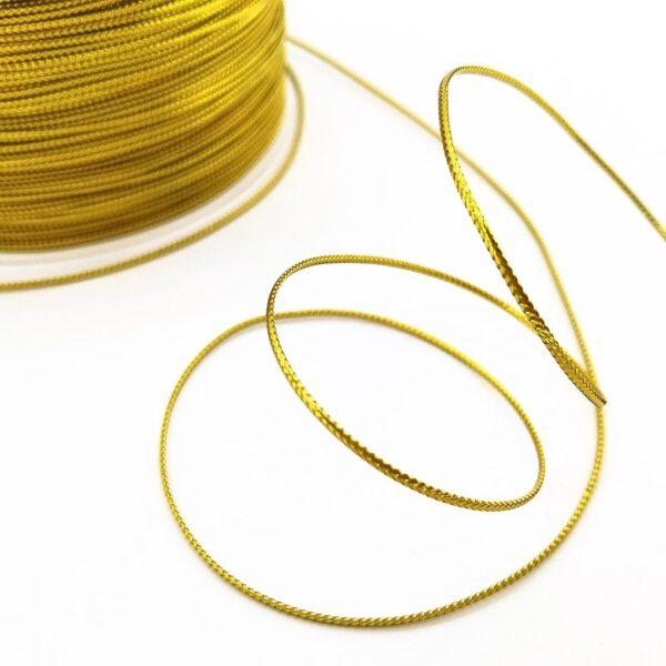 тасьма стрічка металева золота