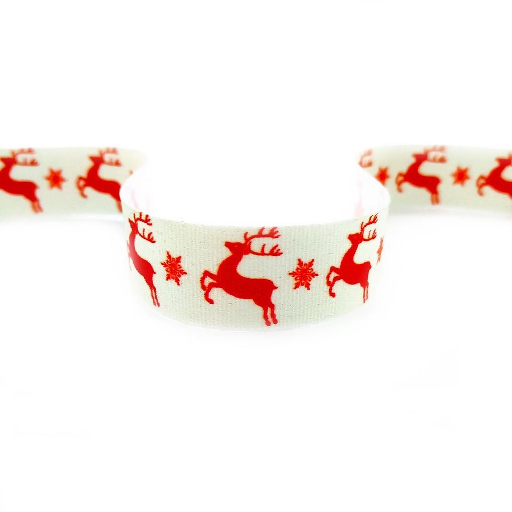 стрічка друк олені червоні