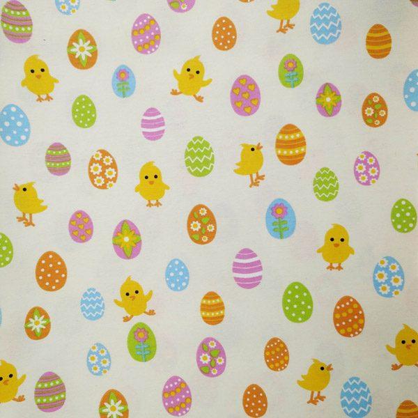 великодній принт святкові яйця тканина декоративна