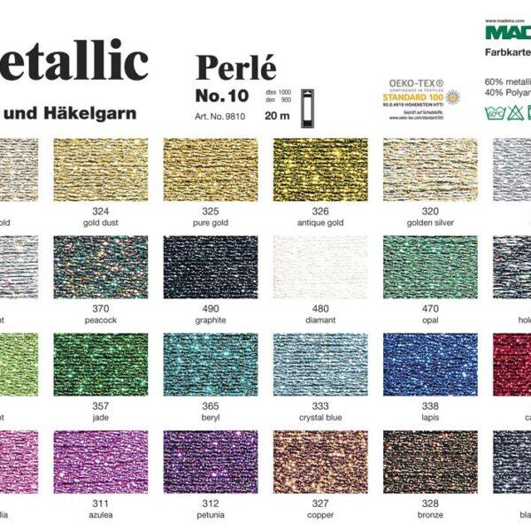 палітра кольорів мадейра металік metallic madeira