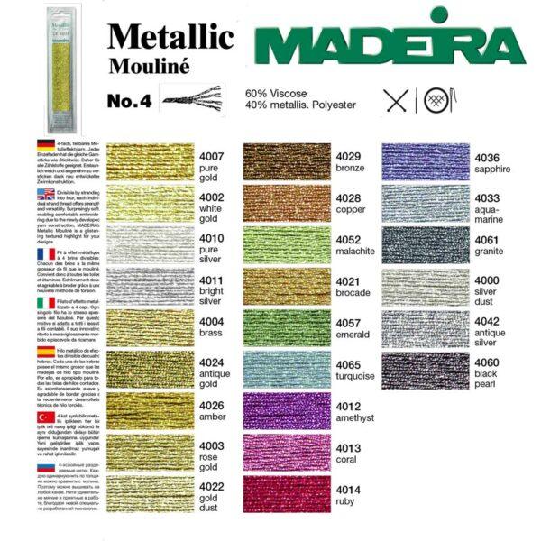 палітра кольорів мадейра мтеалік 4 Madeira Metallic Mouline
