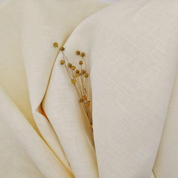 кремова тканина льон італія